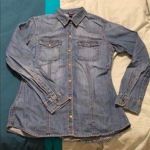 Eddie Bauer Denim Shirt — Button Up